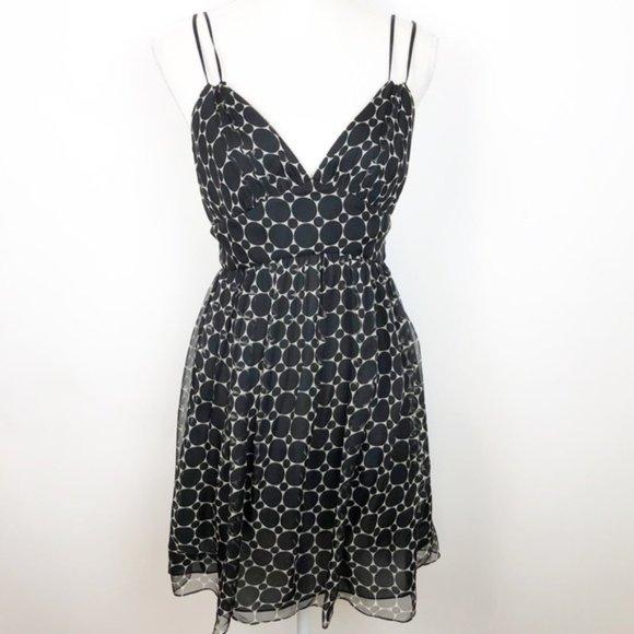 Milly of New York Dresses & Skirts - Milly Silk Sundress Black & Cream Polka Dot O